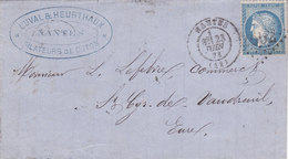 763-  CERES 60  -  NANTES  A  ST CYR DES VAUDREUIL - Postmark Collection (Covers)