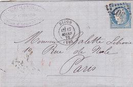 763-  CERES 60  -  DIJON  A  PARIS - Postmark Collection (Covers)