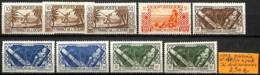 [837642]TB//*/Mh-France (colonies) Océanie 1942 - N° 150/54, Série Complète Dont Nuances - Océanie (Établissement De L') (1892-1958)