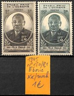 [837653]TB//**/Mnh-France (colonies) Océanie 1945 - N° 180/81, Félix Eboué - Océanie (Établissement De L') (1892-1958)