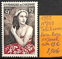 [837679]TB//**/Mnh-c:12e-France (colonies) Océanie 1955 - N° 203, Tahitienne, Bora-Bora, SNC - Océanie (Établissement De L') (1892-1958)