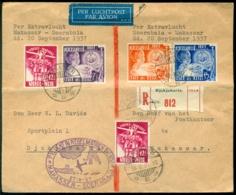 Nederlands Indie 1937 Combinatievlucht Soerabaia-Makassar En Makassar-Soerabaia VH C142 En C143 - Nederlands-Indië