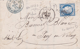 767-  CERES 60  - NANCY  A  LE PUY - Postmark Collection (Covers)