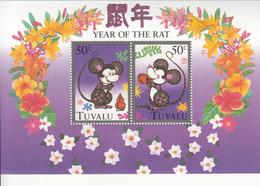 1996 Tuvalu Year Of The Rat Souvenir Sheet Original Souvenir Sheet Complete Set Of 1 MNH - Tuvalu (fr. Elliceinseln)