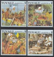1988 Tuvalu Independence Anniversary QEII   Complete Set Of 4  Souvenir Sheets MNH - Tuvalu