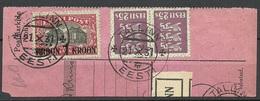 Estland Estonia 1931 Michel 87 On Packet Card Cut Out Parcel Card Cut Out - Estland