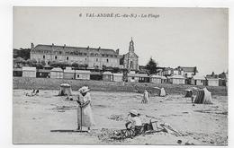 VAL ANDRE- N° 6 - LA PLAGE AVEC PERSONNAGES - CPA NON VOYAGEE - Autres Communes