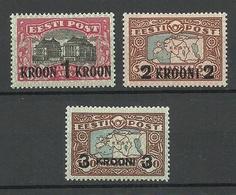 Estland Estonia 1930 Michel 87 - 89 * - Estonia