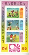 1974 Barbuda World Cup Football Souvenir Sheet MNH - Antigua E Barbuda (1981-...)