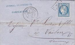 814-  CERES 60  - CARPENTRAS  A  VAISON - Postmark Collection (Covers)