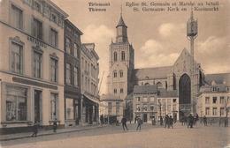 St Germanus Kerk En Koeimarkt Tirlemont Tienen - Tienen
