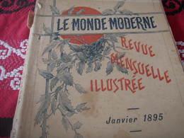 MONDE MODERNE /EGYPTE FOUILLES ARCHOUR /PHOTOS COULEURS /LOCOMOTION ROBIDA /SARAH BERNHARDT/VERDI  / - Books, Magazines, Comics