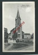 Hamoir S/Ourthe - L'Eglise Et Le Monument Au Sculpteur Delcour. Voir Dos - Hamoir