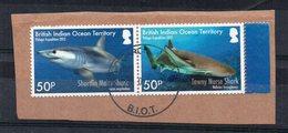 TERRITOIRE BRITANNIQUE DE L'OCEAN INDIEN - BRITISH INDIAN OCEAN TERRITORY - 2012 - REQUINS - SHARKS - Oblitéré - Used - - Territoire Britannique De L'Océan Indien