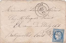 827-  CERES 60  -   LYON  A  BATIGNOLLES - Postmark Collection (Covers)