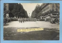 Carte-photo Paris 8e Fête De La Victoire 14-07-1919 (Champs-Elysées ? Près De L'avenue Marigny) 2scans - Arrondissement: 08