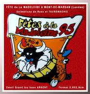 """SUPER PIN'S TAUROMACHIE-MONT De MARSAN : """"LES FÊTES De La MADELEINE"""" En 1995, Animations Dans Les Rues 2,9X2,9cm - Corrida"""