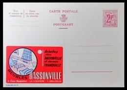 ENTIER CP PUBLIBEL 2119 . MEUBLES DASSONVILLE . LA LOUVIERE . . NEUF - Publibels