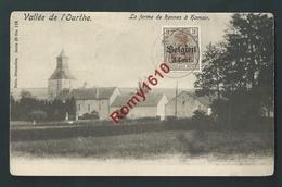 Vallée De L'Ourthe - Le Ferme De Rennes à Hamoir. Nels Série 26 N°119. Timbre Et Cachet Militaires, Voir 2 Scans - Hamoir