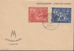 SBZ 230-231, FDC Leipziger Messe 1949 - Zone Soviétique