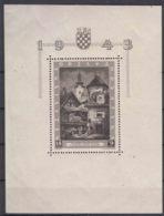 Croatia 1943 Mi#Block 6 Mint Never Hinged - Kroatien