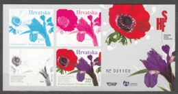 Croatia 2017 Joint Issue With Israel, Flowers - Perunika (Anemone) Mint Never Hinged Block - Kroatien