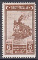 Turkey 1939 Railway Mi#1060 Mint Never Hinged - 1921-... Republiek