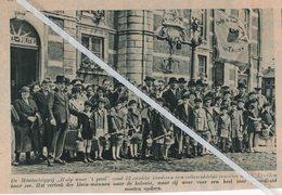 """ST.TRUIDEN..1936..DE MAATSCHAPPIJ """"HULP WAAR 'T PAST """" ZOND ZWAKKE KINDEREN UIT NAAR DE KOLONIE - Old Paper"""