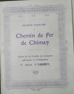 Société Anonyme Du Chemin De Fer De Chimay ( Aandeel Obligation Action ) - Chemin De Fer & Tramway