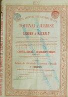 Société Anonyme Des Chemins De Fer Tournai à Jurbise Et De Landen à Hasselt 1906 ( Aandeel Obligation Action ) - Chemin De Fer & Tramway