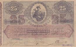 Cuba  El Banco Espanol De La Habana 25 Pesos COPY, Pick 21, Meleg H03 - Cuba