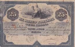 Cuba  El Banco Espanol De La Habana 25 Pesos COPY, Pick 13, Meleg I03 - Cuba