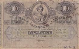 Cuba  El Banco Espanol De La Habana 50 Pesos COPY, Pick 23, Meleg H05 - Cuba