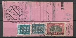 Estland Estonia 1931 Michel 87 On Packet Card Cut Out Parcel Card Cut Out - Estonia