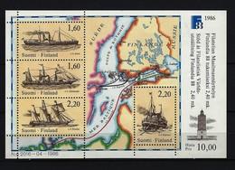 FINNLAND Block Mi-Nr. 2 Internationale Briefmarkenausstellung FINLANDIA '88, Helsinki (II): Postschiffe Postfrisch - Finnland