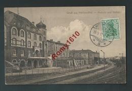 Gruss Aus Herbesthal - Postamt Und Station. Train, Chemin De Fer. - Lontzen