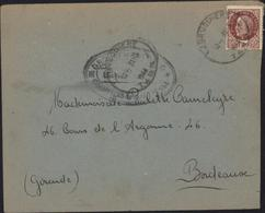 Guerre 39 45 YT Petain 517 CAD La Bruguiere Tarn 31 3 44 Cachet Chantier De Jeunesse Groupement 211 Groupe Equipe Cadets - WW II