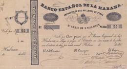 Cuba  El Banco Espanol De La Habana Bond 100 Pesos COPY, Pick Does Not Know, Meleg B09 - Cuba