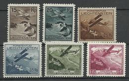 LIECHTENSTEIN 1930 Michel 108 - 113 * - Liechtenstein