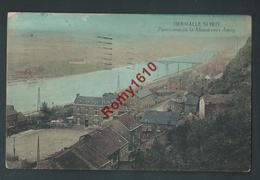 Hermalle S/ Huy - Panorama De La Meuse Vers Amay. Carte En Couleur, Rare. - Engis