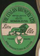 Nuwara Eliya Lion Ale (Ceylon), Beer Label From 60`s. RARE!!! - Beer