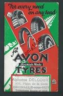 Publicité Avon Tyres (Pneus) Sur Papier Buvard. Maison Delcourt à Hermalle-sous-Huy - Engis