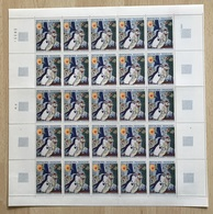 FRANCE - TABLEAU / 1963 CHAGALL # 1398 - FEUILLE DE 25 TIMBRES ** / COTE 50.00 EUROS (ref T1712) - Full Sheets
