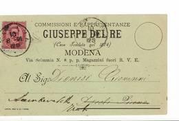 3564 MODENA DEL RE 1891 - 1878-00 Umberto I