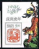 AFRIQUE DU SUD/SOUTH AFRICA/Neufs **/MNH**/1998 - Année Lunaire Chinoise Du Tigre - Blocchi & Foglietti