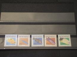 MICRONESIA - 2001 PESCI 5 VALORI - NUOVI(++) - Micronesia