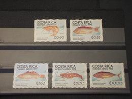 COSTA RICA - P.A. 1979 FAUNA MARINA 5 VALORI - NUOVI(++) - Costa Rica