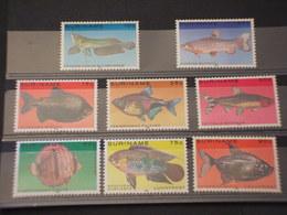 SURINAME - 1980 PESCI 8 VALORI - NUOVI(++) - Suriname