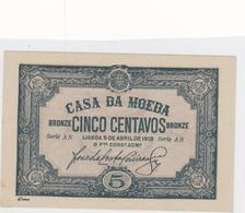 Portugal - 5 Centavos -casa Da Moeda - Portogallo