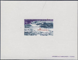 F.S.A.T. (1981) Charcot Station. Deluxe Sheet. Scott No C68, Yvert No PA70. - Imperforates, Proofs & Errors
